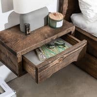 Wansbeck Floating Bedside Table | Handmade Rustic Furniture